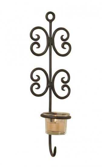 Multi-Chain Wrought Iron Wall Sconce