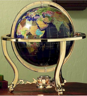 "Kassel 13"" Decorative World Globe"