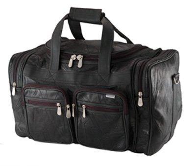 """Embassy Italian Stone Design genuine buffalo leather 19"""" tote bag"""