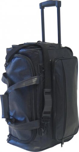 Embassy Black Faux Leather Tote/Trolley Bag
