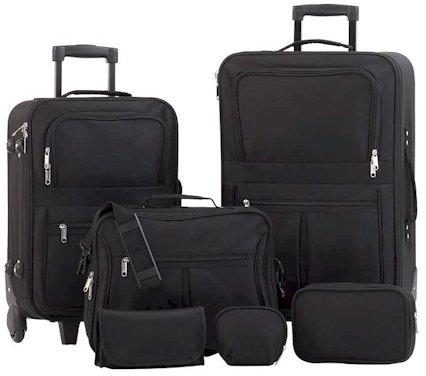 Embassy� 6pc Black Luggage Set