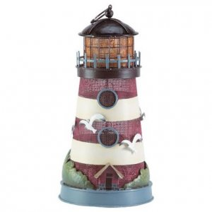 Painted Metal Lighthouse Lamp