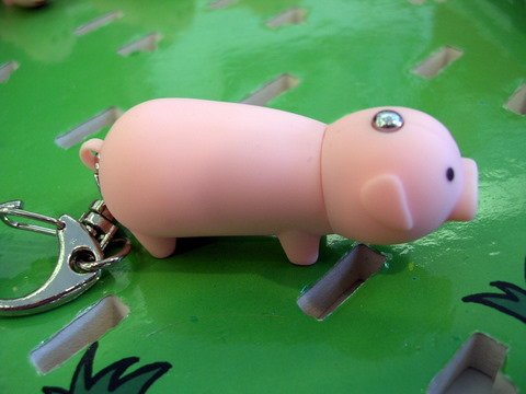 LED Piggy Keychain with sounds