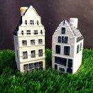Vintage KLM BOLS Delft Dutch 2 Miniature Houses. No. 41+50