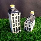 Vintage KLM BOLS Delft Dutch 2 Miniature Houses. No. 2+57