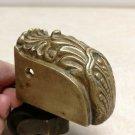 "Antique Solid Brass Caster & Ornate Toe Cap Conch & Pearl 3 1/2""x 3 3/4""x1 3/8"""