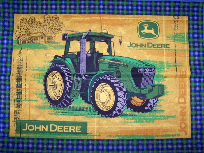 John Deere Tractor Toddler Size Pillow Case