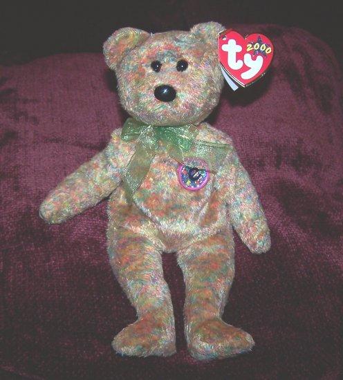 Speckles 2000 TY E Beanie Baby Teddy Bear