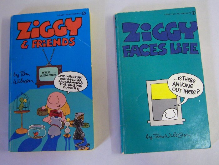 Lot of 2 Ziggy Paperback Comic Books  - 1980s