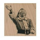 NEW Waving Santa RUBBER STAMP, Santa Clause Stamp, Santa Stamp, Christmas Stamp