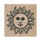 NEW Contemplative Sun RUBBER STAMP, Sun Stamp, Sunshine Stamp, Celestial Stamp
