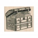NEW Vintage Paris Steamer Trunk RUBBER STAMP, Travel Stamp, Vintage Stamp,