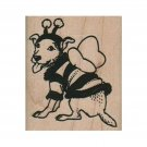 NEW Bee Dog RUBBER STAMP, Dog in Costume Stamp, Dog Stamp, Bee Stamp, Dog Lover