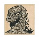 NEW Godzilla RUBBER STAMP, King of Monsters Stamp, Monster Stamp. Godzillasaurus