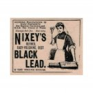 NEW Nixey's Black Lead Ad RUBBER STAMP, Advertisement Stamp, Newspaper Ad Stamp