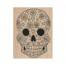 NEW Sugar Skull RUBBER STAMP, Halloween Stamp, Skull Stamp,Skeleton Stamp
