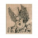 NEW Clown Face RUBBER STAMP, Carnival Stamp, Circus Stamp, Clown Stamp