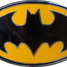 Yellow and Black Batman logo belt buckle