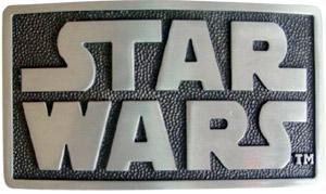 Star Wars logo belt buckle