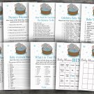 Elephant baby shower games package,9 Printable Games-303