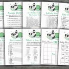 Panda baby shower games package,9 Printable Games-302