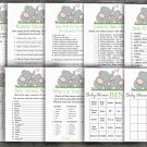 Funny Elephant baby shower games package,Elephant baby shower games package,9 Printable Games-299