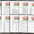 Cow baby shower games package,baby shower games ,9 Printable Games-296
