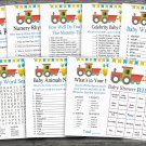 Train baby shower games package,Automobile baby shower games package ,9 Printable Games-198