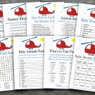 Helicopter baby shower games package,Transportation baby shower games package ,9 Printable Games-197