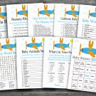 Airplane baby shower games package,Transportation baby shower games package ,9 Printable Games-196