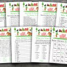Farm Animal baby shower games package,Farm baby shower games package ,9 Printable Games-189