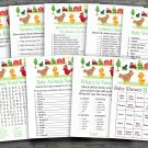 Farm Animal baby shower games package,Farm baby shower games package ,9 Printable Games-188