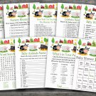 Farm Animal baby shower games package,Barnyard baby shower games package ,9 Printable Games-187