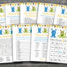 Monsters baby shower games package,Monsters baby shower games ,9 Printable Games-182