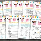 Farm Animals baby shower games package,Farm baby shower games package ,9 Printable Games-181