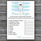 Polar bear Price is Right baby shower game,bear baby shower game,Printable Baby Shower Game-312