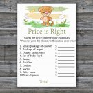 Tiger Price is Right baby shower game,Safari Baby Shower Game,Price is Right Game Printable-311