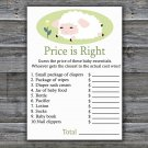 Lamb Price is Right baby shower game,Sheep Baby Shower Game,Price is Right Game Printable-308