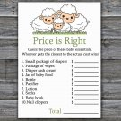 Little Lamb Price is Right baby shower game,Sheep Baby Shower Game,Price is Right Game Printable-307