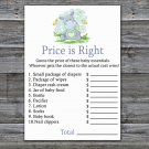 Hippo Price is Right baby shower game,Hippo Baby Shower Game,Price is Right Game Printable-304