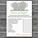 Elephant Price is Right baby shower game,Elephant Baby Shower Game,Price is Right Game Printable-300