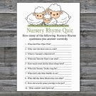 Little Lamb Nursery Rhyme Quiz baby shower game,Sheep Baby Shower Game -307