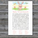 Rabbit Baby Shower Word Search Game,bunny Baby Shower Word Search Game Printable -310