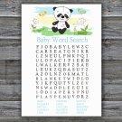 Panda Baby Shower Word Search Game,Panda Baby Shower Word Search Game Printable -309