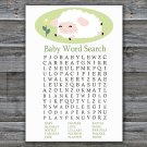 Lamb Baby Shower Word Search Game,Sheep Baby Shower Word Search Game Printable -308
