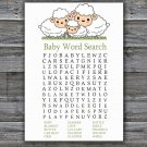 Little Lamb Baby Shower Word Search Game,Sheep Baby Shower Word Search Game Printable -307