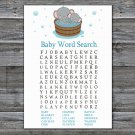 Elephant Baby Shower Word Search Game,Safari Baby Shower Word Search Game Printable -303
