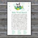 Panda Baby Shower Word Search Game,Panda Baby Shower Word Search Game Printable -301
