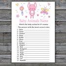 Rabbit Baby Animal Names Game,Rabbit Baby Shower Game,Baby Shower Game Printable -313
