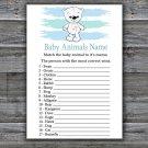 Polar bear Baby Animal Names Game,bear Baby Shower Game,Baby Shower Game Printable -312
